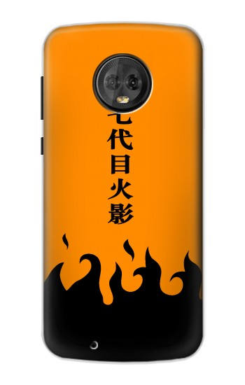 Printed Naruto 7th Hokage Cloak Orange Motorola Moto G6 Case