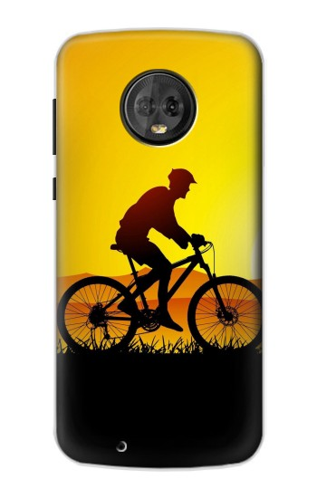 Printed Bicycle Bike Sunset Motorola Moto G6 Case