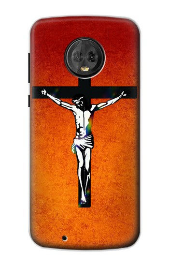 Printed Jesus Christ On The Cross Motorola Moto G6 Case