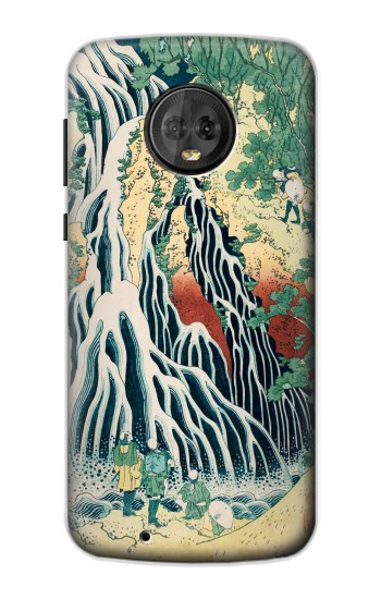 Printed Kirifuri Waterfall at Kurokami Mountain in Shimotsuke Motorola Moto G6 Case