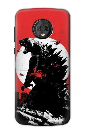 Printed Godzilla Japan Flag Motorola Moto G6 Case