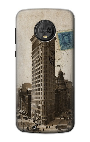 Printed New York 1903 Flatiron Building Postcard Motorola Moto G6 Case