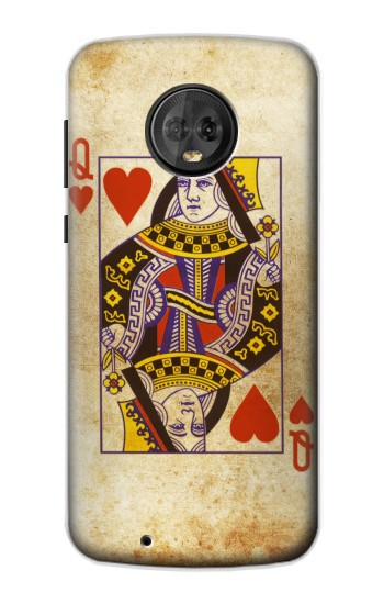 Printed Poker Card Queen Hearts Motorola Moto G6 Case