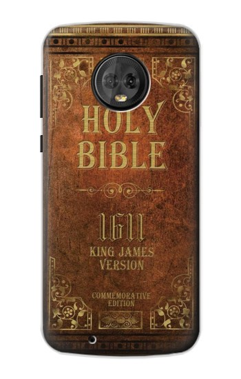 Printed Holy Bible 1611 King James Version Motorola Moto G6 Case