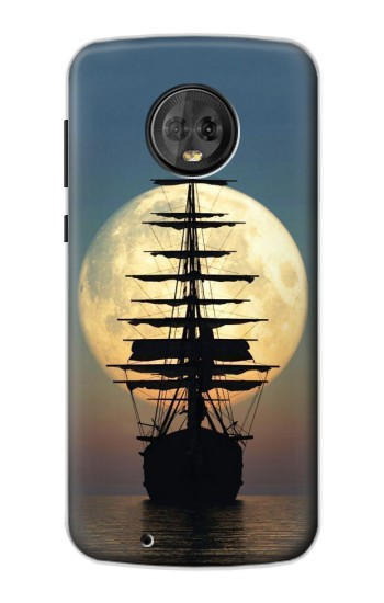 Printed Pirate Ship Moon Night Motorola Moto G6 Case