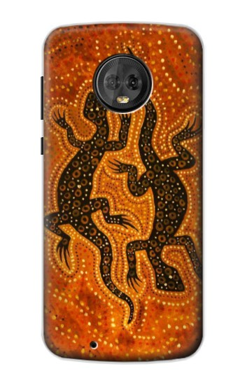 Printed Lizard Aboriginal Art Motorola Moto G6 Case