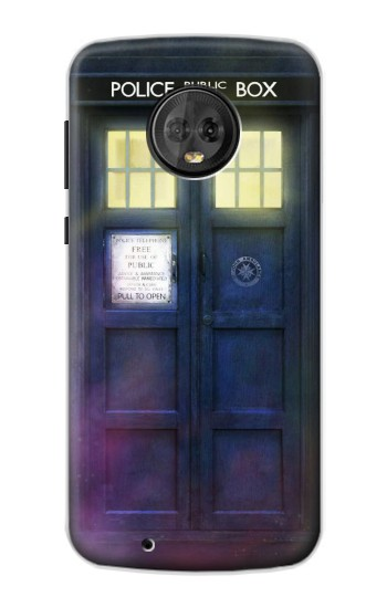 Printed Tardis Phone Box Motorola Moto G6 Case