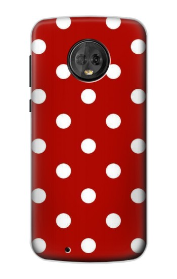 Printed Red Polka Dots Motorola Moto G6 Case