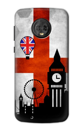 Printed England Football Flag Motorola Moto G6 Case