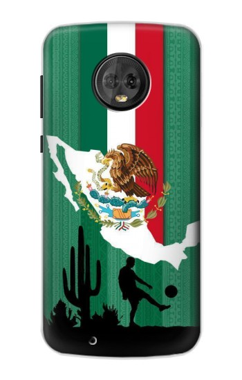 Printed Mexico Football Flag Motorola Moto G6 Case