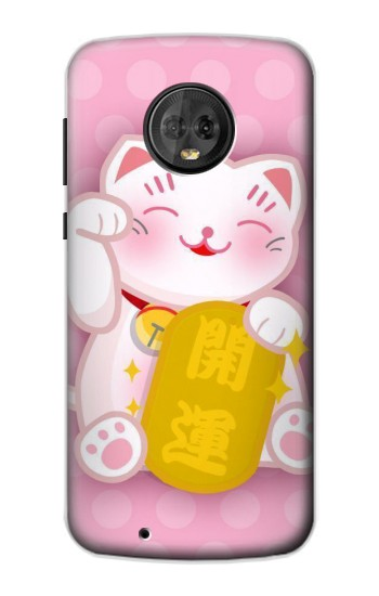 Printed Neko Lucky Cat Motorola Moto G6 Case