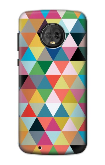 Printed Triangles Vibrant Colors Motorola Moto G6 Case