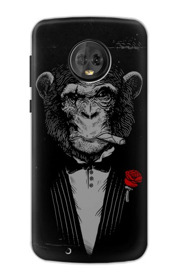 Printed Funny Monkey God Father Motorola Moto G6 Case