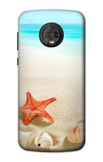 Printed Sea Shells Starfish Beach Motorola Moto G6 Case