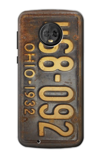Printed Vintage Car License Plate Motorola Moto G6 Case