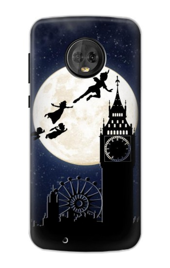 Printed Peter Pan Fly Fullmoon Night Motorola Moto G6 Case