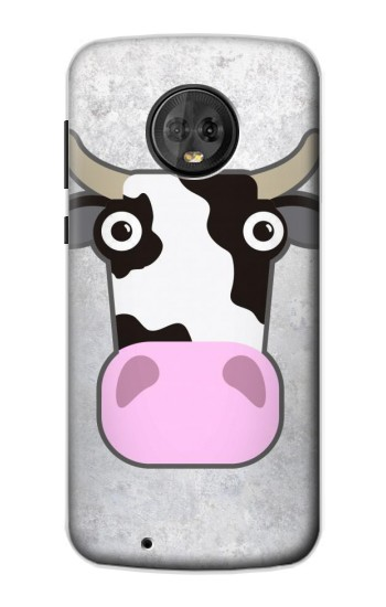Printed Cow Cartoon Motorola Moto G6 Case