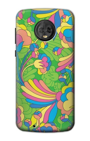 Printed Flower Line Art Pattern Motorola Moto G6 Case