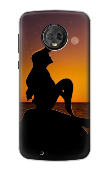 Printed Mermaid Sunset Motorola Moto G6 Case