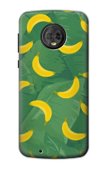 Printed Banana Fruit Pattern Motorola Moto G6 Case