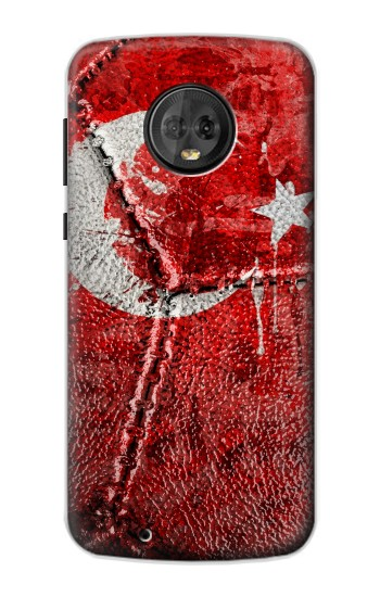Printed Turkey Flag Vintage Football 2018 Motorola Moto G6 Case