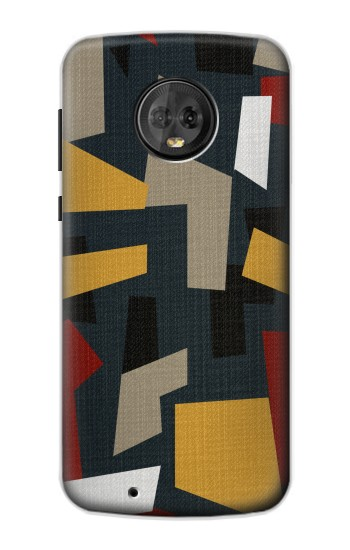 Printed Abstract Fabric Texture Motorola Moto G6 Case