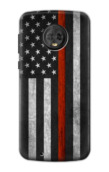 Printed Firefighter Thin Red Line Flag Motorola Moto G6 Case
