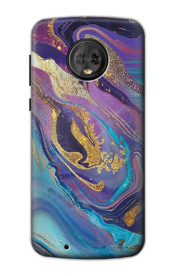 Printed Colorful Abstract Marble Stone Motorola Moto G6 Case
