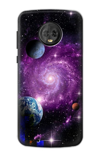 Printed Galaxy Outer Space Planet Motorola Moto G6 Case
