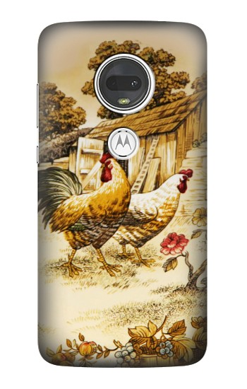 Printed French Country Chicken Motorola Moto G7 Case