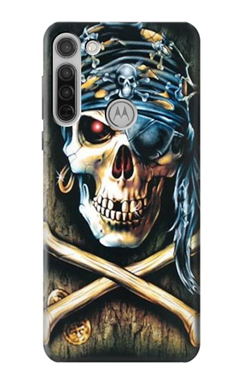 Printed Pirate Skull Punk Rock Motorola Moto G8 Case