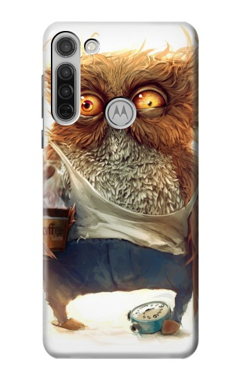 Printed Wake up Owl Motorola Moto G8 Case