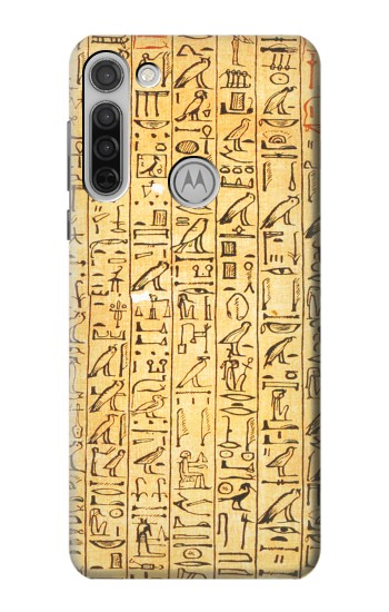 Printed Egyptian Coffin Texts Motorola Moto G8 Case