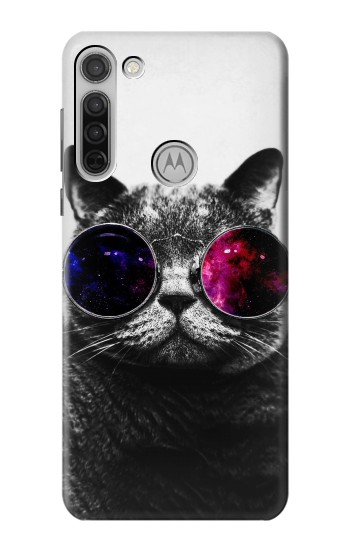 Printed Cool Cat Glasses Motorola Moto G8 Case
