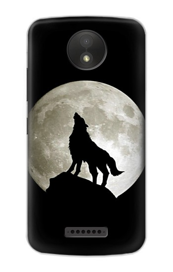 Printed Wolf Howling at The Moon Google Pixel C Case