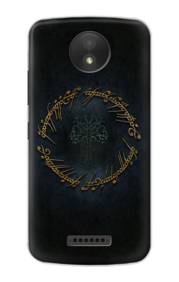 Printed Lord of The Rings Ring Elf Writing Google Pixel C Case