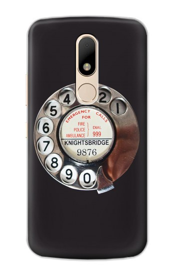 Printed Retro Rotary Phone Dial On Motorola Moto E Case