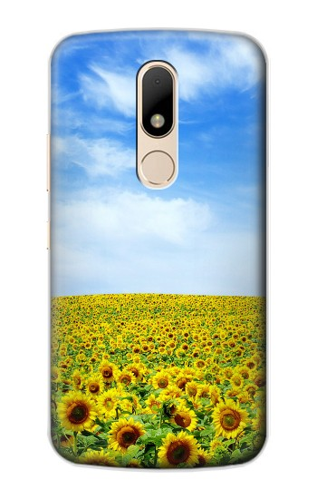 Printed Sunflower Motorola Moto E Case