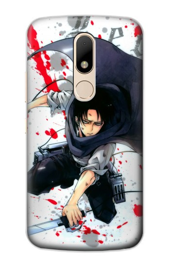 Printed Attack on Titan Rivaille Levi Motorola Moto E Case