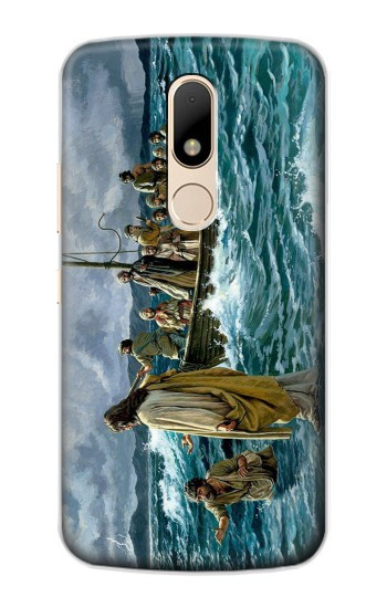Printed Jesus Walk on The Sea Motorola Moto E Case
