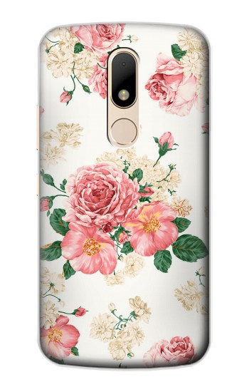 Printed Rose Pattern Motorola Moto E Case
