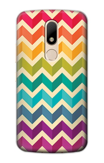Printed Rainbow Colorful Shavron Zig Zag Pattern Motorola Moto E Case