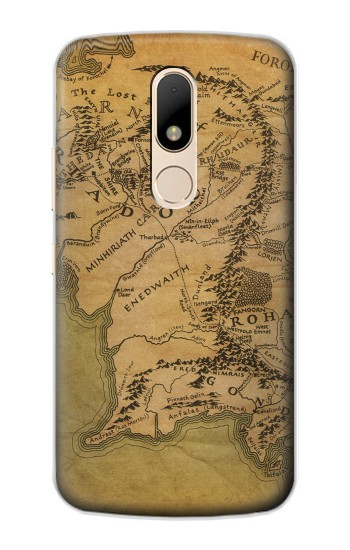 Printed The Lord Of The Rings Middle Earth Map Motorola Moto E Case