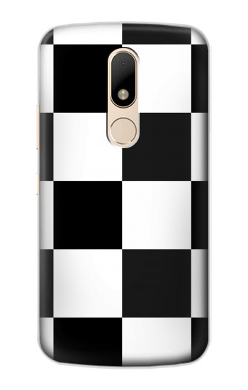 Printed Black and White Checkerboard Motorola Moto E Case