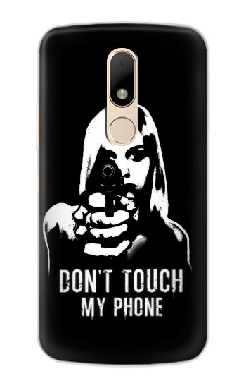 Printed Girl Do Not Touch My Phone Motorola Moto E Case