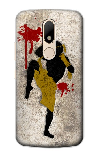 Printed Muay Thai Fight Boxing Blood Splatter Motorola Moto E Case