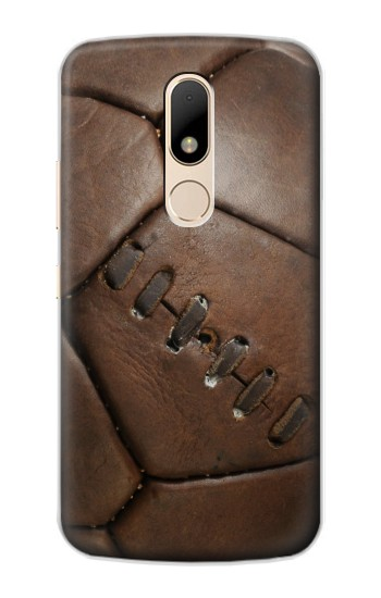 Printed Vintage Genuine Leather Soccer Football Motorola Moto E Case