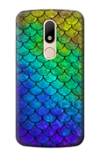 Printed Mermaid Fish Scale Motorola Moto E Case