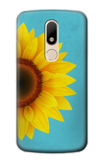 Printed Vintage Sunflower Blue Motorola Moto E Case