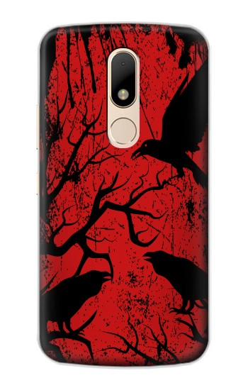 Printed Crow Black Tree Motorola Moto E Case